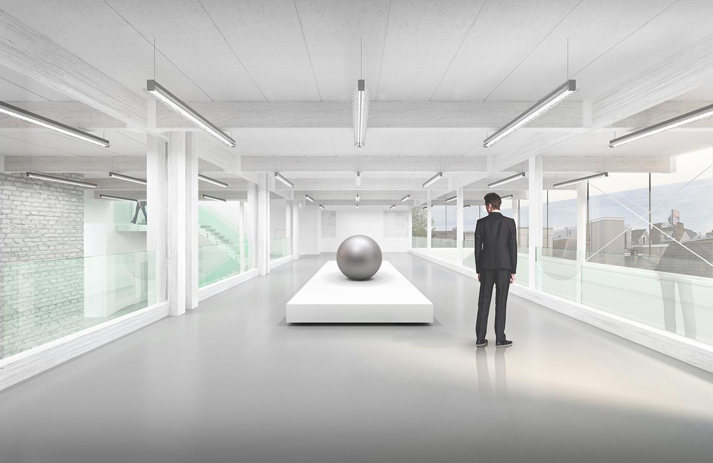 3D gestileerde rendering interieur ontwerp