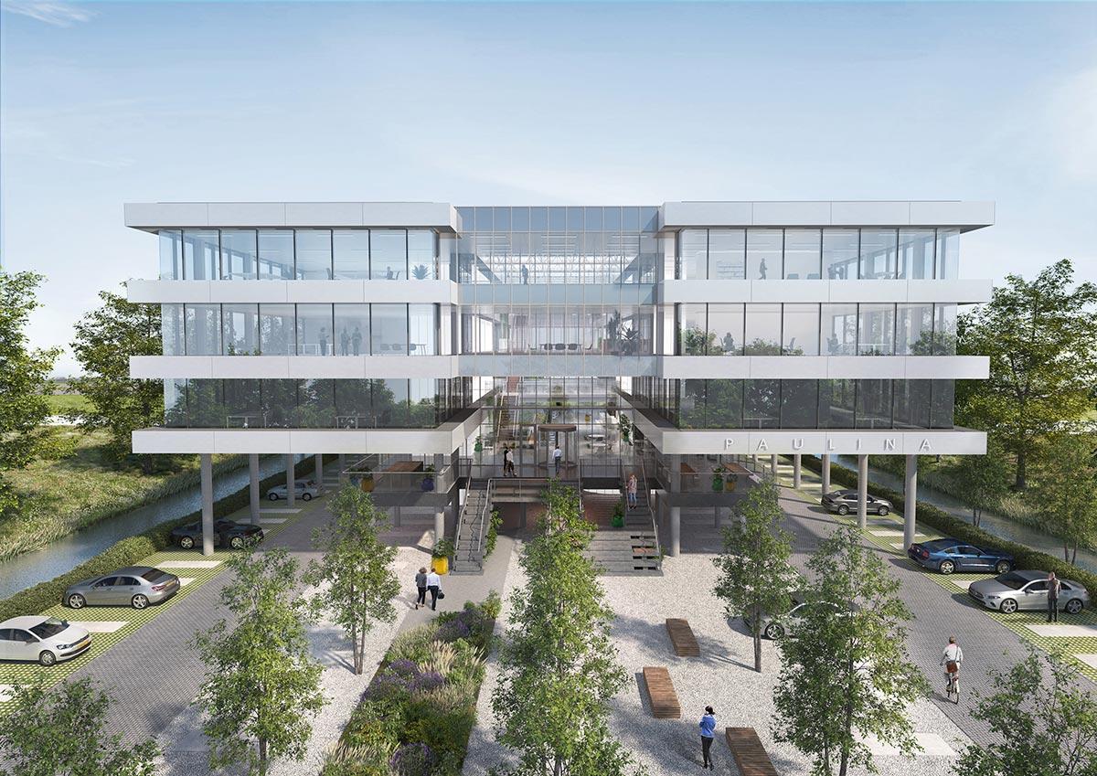 3D artist impression visualisatie architectuur kantoor